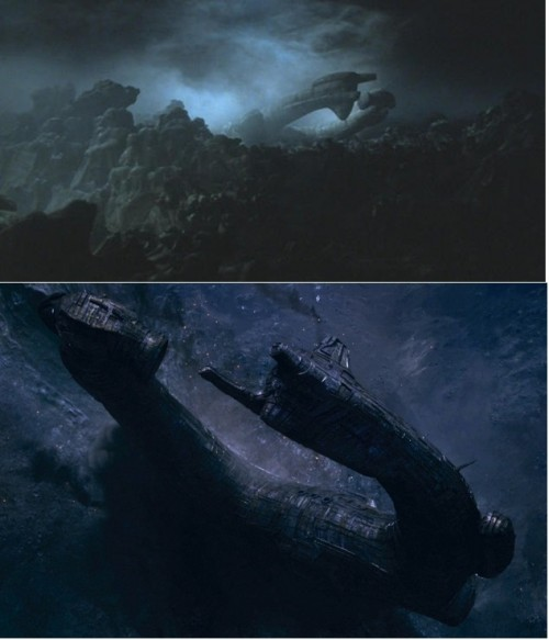 The Ship in both Prometheus and Alien