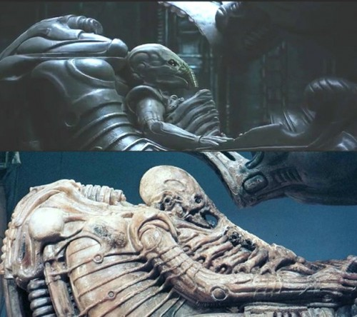 The Space Jockey in both Prometheus and Alien