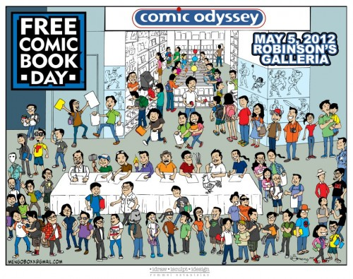 Free Comic Book Day at Comic Odyssey by Rommel Estanislao